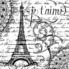 Stamperia Natural Rubber Stamps 10x10cm - Paris -  WTKCC45