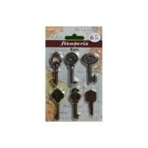 Stamperia Metal Key Embellishments - SBA68