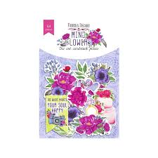 NEW Fabrika Decoru 'Mind Flowers' Die Cuts 58 pieces - FDSDC-04066