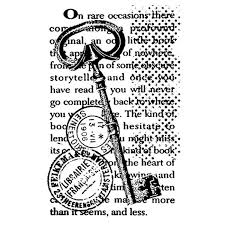 Stamperia Natural Rubber Stamps 7x11cm - Script Key - WTKCC105