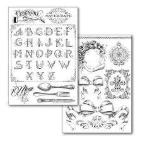 Stamperia Transfer Paper - Alphabet and Friezes DFTR082