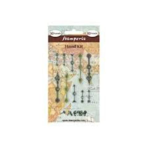 Stamperia Metal Clock Hand Kit Embellishments - SBA69