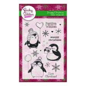 Becky Seddon 'Snappy Christmas' Clear Stamp Set