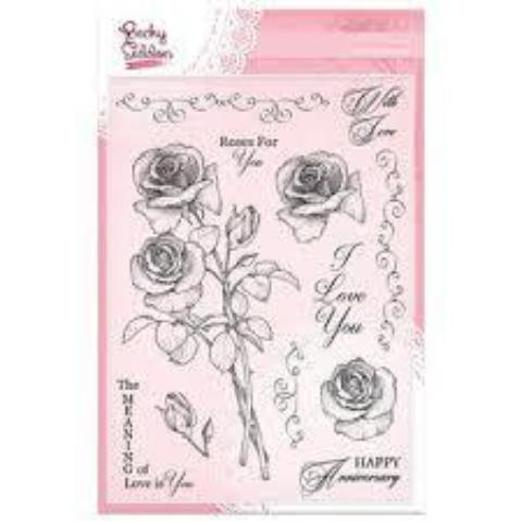 Becky Seddon Designs 'Love Bouquet' A5 Clear Stamp Set