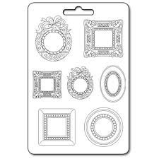 NEW Stamperia A4 Moulds - Frames and Wreaths -K3PTA416