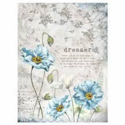 Stamperia A4 Decoupage Rice Paper -  Dreamer DFSA4249