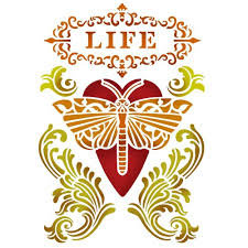 Stamperia Stencil - Flexible transparent 20x15cm - Life Moth - KSD283