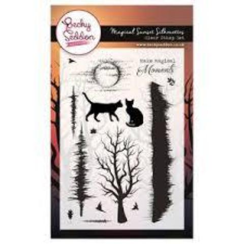 Becky Seddon 'Magical Sunset Silhouettes' Clear Stamp Set