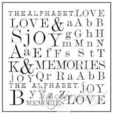 Stamperia Natural Rubber Stamps 10x10cm - The Alphabet - WTKCC14