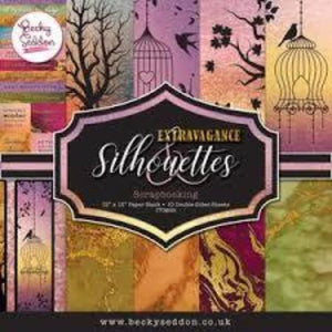 Becky Seddon 'Extravagance and Silhouettes' Scrapbooking Stack