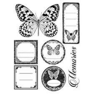 Stamperia Natural Rubber Stamps 14x18cm - Butterfly Memories - WTKCC65