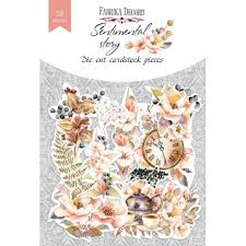 NEW Fabrika Decoru 'Sentimental Story' Die Cuts 58 pieces - FDSDC-04067