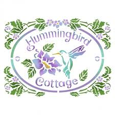 Stamperia Stencil - Flexible transparent 20x15cm - Hummingbird Cottage - KSD293
