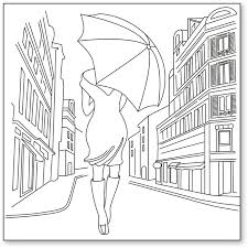 Stamperia Silhouette Art Napkin - Singing In the Rain -50x50cm - DTM07
