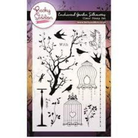 Becky Seddon 'Enchanted Garden Silhouettes' Clear Stamp Set