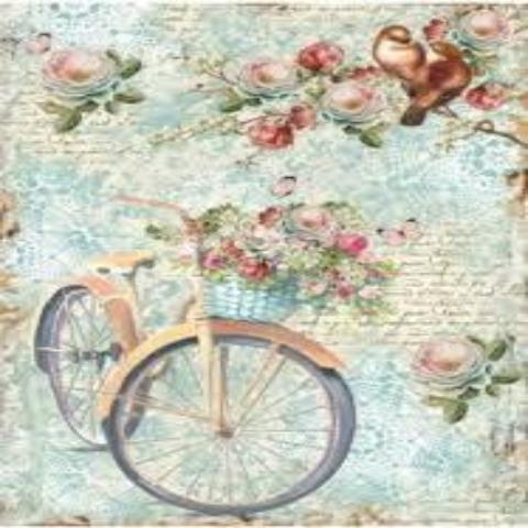 Stamperia A4 Decoupage Rice Paper -  Bike and Branches DFSA4238