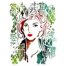 Stamperia Stencil - Flexible transparent 21x29,7cm - Beautiful Face - KSG367
