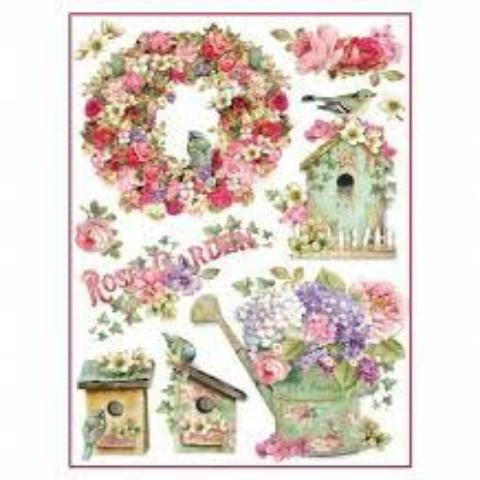 Stamperia A4 Decoupage Rice Paper -  Rose Garden DFSA4274