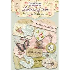 NEW Fabrika Decoru 'Letters of Love' Die Cuts 53 pieces - FDSDC-04001-1