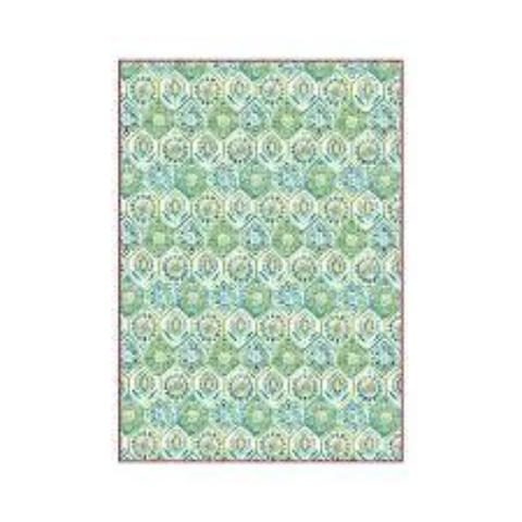 Stamperia A4 Decoupage Rice Paper -  Green Arabesque DFSA4299