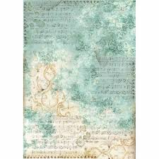 Stamperia Decoupage Rice Paper A3-  Musical Scores DFSA3017