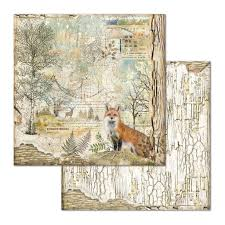 Stamperia Forest Fox - Double Face Paper 30 x 30 SBB656