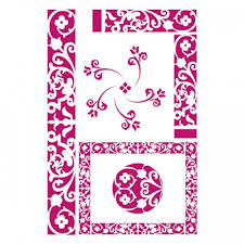 Stamperia Stencil - Flexible transparent 21x29,7cm - Borders - KSG267