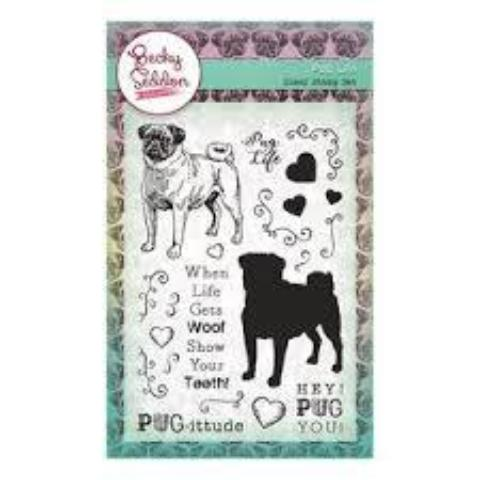 Becky Seddon 'Pug Life' Clear Stamp Set