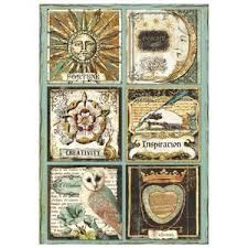 Stamperia A4 Decoupage Rice Paper -  Alchemy Cards DFSA4262