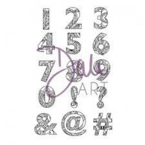 DaliART- Henna Numbers/Symbols Stamp- A6