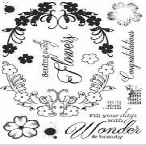 Becky Seddon 'Swirling Spray' Clear Stamp Set