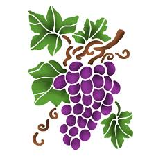 Stamperia Stencil - Flexible transparent 20x15cm - Grape - KSD297
