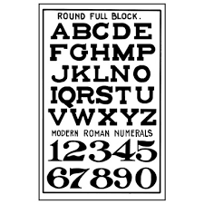 Stamperia Natural Rubber Stamps 7x11cm - Alphabet - WTKCC132