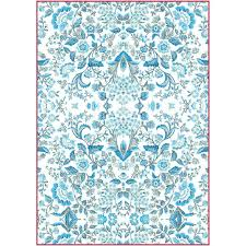 Stamperia A4 Decoupage Rice Paper - Blue Arabesque DFSA4298