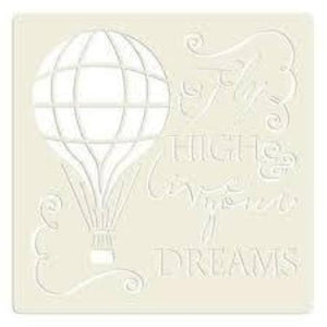"Becky Seddon 'High Live Your Dreams' 7"" x 7"" Mylar Stencil"
