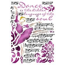 Stamperia Stencil - Flexible transparent 21x29,7cm - Dance - KSG416