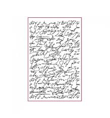 Stamperia Natural Rubber Stamps 7x11cm - Script - WTKCC101