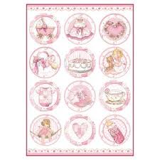 Stamperia A4 Decoupage Rice Paper - Baby Girl Round Subjects DFSA4289