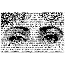Stamperia Natural Rubber Stamps 7x11cm - Eyes - WTKCC55