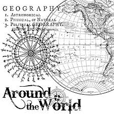 Stamperia Natural Rubber Stamps 10x10cm - Around the World - WTKCC13