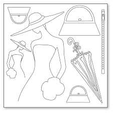 Stamperia Silhouette Art Napkin - Dreaming Lady -50x50cm - DFTM02