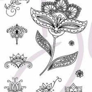 DaliART- Lotus Flower Stamp - A6