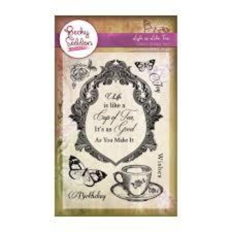 Becky Seddon 'Life is Like Tea' Clear Stamp Set