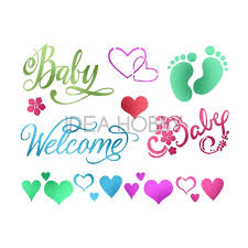 Stamperia Stencil - Flexible transparent 20x15cm - Baby Welcome - KSD295