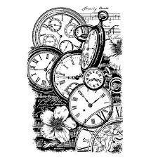 Stamperia Natural Rubber Stamps 7x11cm - Pocket Watches - WTKCC99