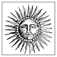 Stamperia Natural Rubber Stamps 10x10cm - Alchemy Sun - WTKCC124