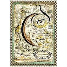 Stamperia A4 Decoupage Rice Paper -  Alchemy Moon DFSA4260