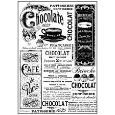 Stamperia A4 Decoupage Rice Paper - Vintage Chocolate DFSA4193