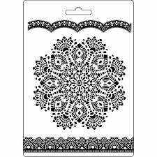 Stamperia Texture Impression Moulds - A5 - Doily Pattern - K3PTA516