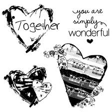 Stamperia Natural Rubber Stamps 10x10cm - Together - WTKCC83